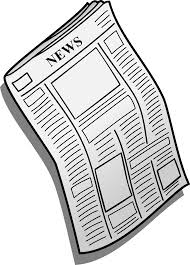 Cartoon newspaper image